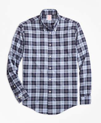 Brooks Brothers Madison Fit Plaid Flannel Sport Shirt