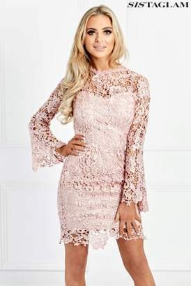 Next Womens Sistaglam Lace Fitted Dress