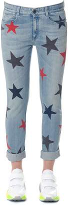 Stella McCartney Denim Skinny Stars Print Jeans
