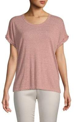 Rolled-Sleeve Cotton Tee