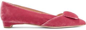 Rupert Sanderson Aga Velvet Point-toe Flats - Pink