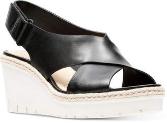 Clarks Artisan Women's Palm Glow Wedge Sandals Women's Shoes