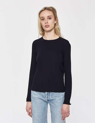 A.P.C. Lady Rib-Knit Sweater in Navy