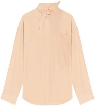 Balenciaga Scarf Collar Shirt