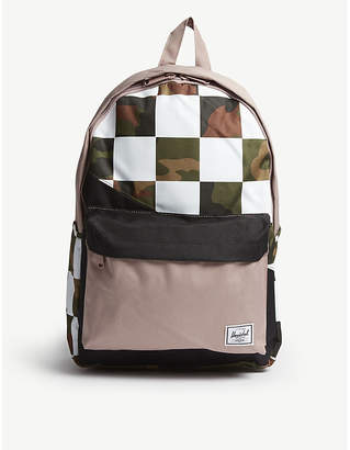 Herschel Classic check and camouflage-print backpack