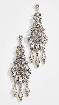 Ben-Amun Ornate Crystal Drop Post Chandelier Earrings