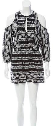 Rachel Zoe Tory Embroidered Romper w/ Tags