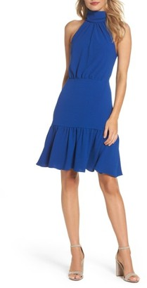 Women's Betsey Johnson Stretch Crepe Blouson Halter Dress $138 thestylecure.com