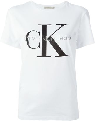 Calvin Klein Jeans classic logo print T-shirt $47.85 thestylecure.com