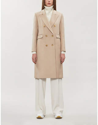 Sandro Regular-fit double-breasted wool-blend coat