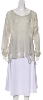 Wildfox Couture Distressed Scoop Neck Sweater