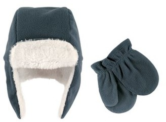 Hudson Baby Boy Traper Fleece Hat & Mittens 2pc Set