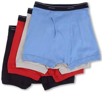 Jockey Cotton Full-Rise Boxer Brief 4-Pack Men's Underwear
