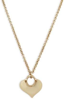 Robert Lee Morris Women's Puffy Heart Pendant Necklace