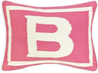 Jonathan Adler Reversible Junior Pink Letter Throw Pillow