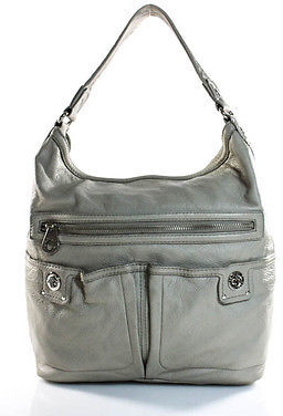 Marc By Marc JacobsMarc By Marc Jacobs Gray Leather Hobo Handbag Size Large