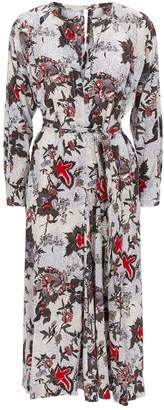 Isabel Marant Silk Lympia Midi Dress