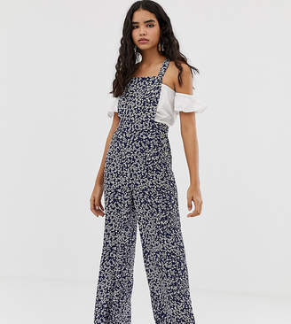 Miss Selfridge pinny jumpsuit in ditsy print