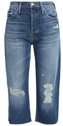 Mother Distressed Mid-Rise Boyfriend Jeans