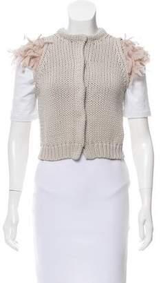 Brunello Cucinelli Cropped Cable Knit Vest