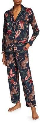 Desmond & Dempsey Soleia Silk Classic Pajama Set