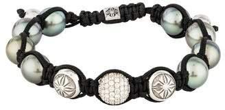 Shamballa 18K Diamond & Pearl Bracelet
