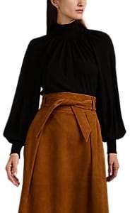 Martin Grant Women's Crepe Puff-Sleeve Blouse - Black