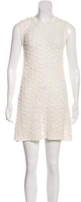 Theory Crocheted Mini Dress