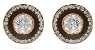 Selim Mouzannar Mina Diamond & 18kt Rose Gold Earrings - Womens - Black