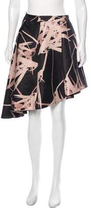 Halston Brush Stroke Knee-Length Skirt