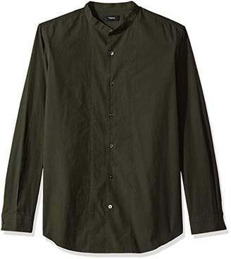 Theory Men's Ls Dress Shirt with Stand Collar
