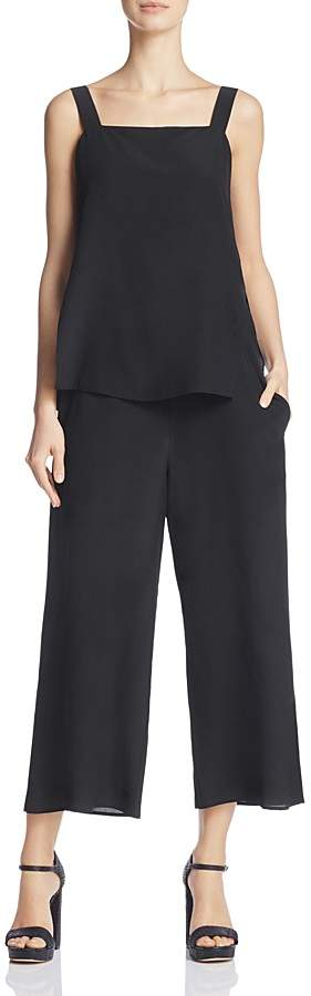 Theory Theory Dinnlean Tiered Silk Jumpsuit
