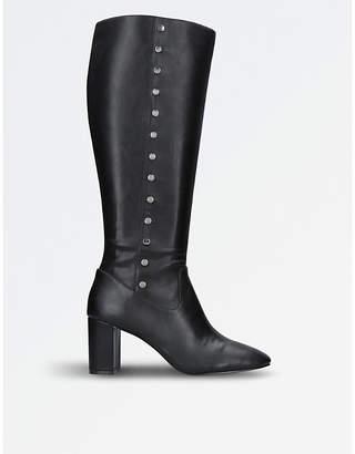 Nine West Ladies Black Xois Knee-High Boots