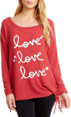 Chaser Love Lace-Up Graphic Tee