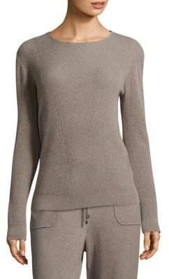 St. John Cashmere Rib-Knit Sweater