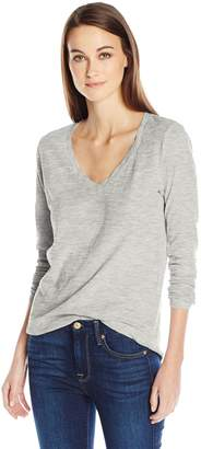 Velvet by Graham & Spencer Women's Blaire Longsleeve v-Neck Tee