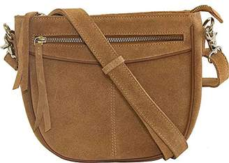 Vicenzo Leather Women's Donielle Suede Cross Body Bag