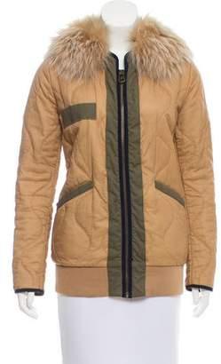 Mr & Mrs Italy Fur-Trimmed Short Coat