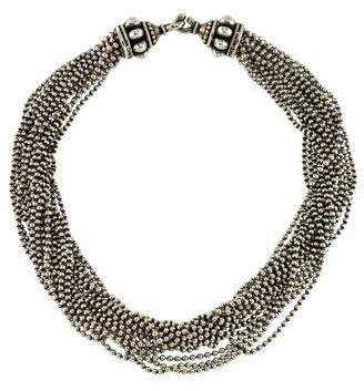 Lagos Two-Tone Multistrand Necklace