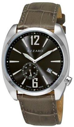 Azzaro メンズaz1300.14kk。005 SeventiesグレーダイヤルグリーンストラップSmall Second Watch Watch