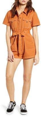 BDG Urban Outfitters Stevie Belted Cotton Romper