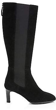 Aquatalia by Marvin K Women's Sage Suede Tall Heeled Boots