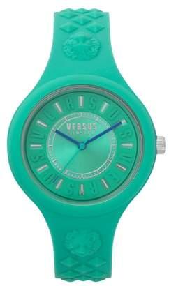 Versus By Versace VERSUS Versace Fire Island Silicone Strap Watch, 39mm