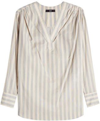 Steffen Schraut Striped Cotton Tunic Top