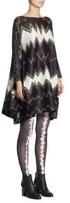 Pleats Please Issey Miyake Zigzag Bicolor Dress