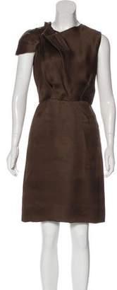 Oscar de la Renta Silk Sheath Dress