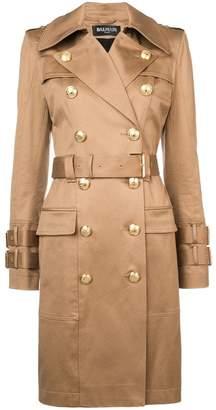 Balmain double-breasted trench coat