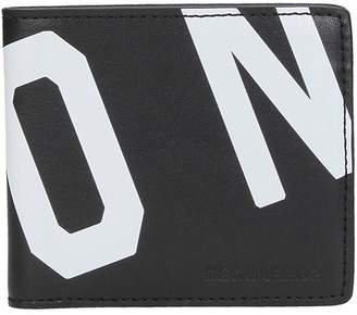 DSQUARED2 Black Leather Icon Cardholder