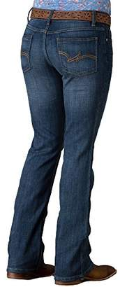 Wrangler Women's Western Mid Rise Stretch Boot Cut Jean
