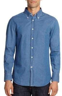 Brunello Cucinelli Cotton Chambray Button-Down Shirt